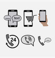 icons phones communications incoming outgoing vector image vector image