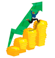 investment man sucsess polygon vector image vector image