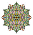 mandala beautiful multi colored design oriental vector image vector image