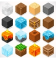 Mine Cubes 03 Elements Isometric vector image vector image