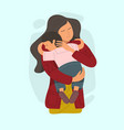 mother embracing little son vector image