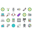 multimedia icons set vector image vector image