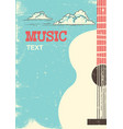 music festival background with musical instrument vector image vector image