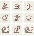 Natural Disaster Icons vector image vector image