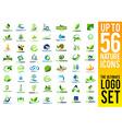 Nature Logo Green Leaf Logo vector image vector image