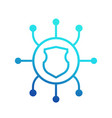 network security icon on white vector image