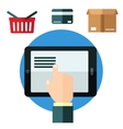 Online shopping or e-commerce concept vector image vector image