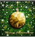 origami style gold christmas toy with shadow on vector image vector image