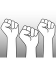 outline fists vector image