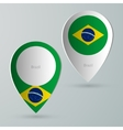 paper of map marker for maps brazil vector image vector image