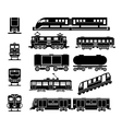 Passenger and public rail city transport black vector image vector image