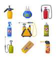 pest control service equipment set detecting and vector image vector image