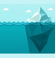 polygonal big iceberg in ocean floating vector image vector image