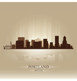 Portland oregon skyline city silhouette vector | Price: 1 Credit (USD $1)