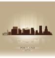 Portland Oregon skyline city silhouette vector image vector image