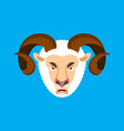 ram angry face sheep evil emoji farm animal vector image vector image