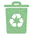 recycle bin composition of small circles vector image vector image