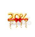 sale 20 off ballon number on white background vector image vector image