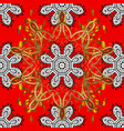 seamless classic red and golden pattern vector image vector image