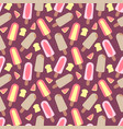seamless pastel ice cream background vector image vector image