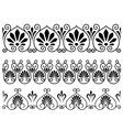 set floral vintage embellishments vector image vector image