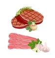 Set of meat products vector image vector image
