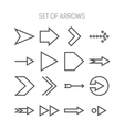 Set of simple monochromatis icons with arrows vector image