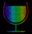 spectral colored dot wine glass icon vector image