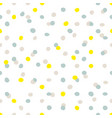 tile pattern with blue yellow and grey dots vector image vector image
