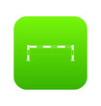 traffic barrier icon digital green vector image vector image