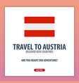 travel to austria discover and explore new vector image