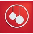 two christmas balls for your design vector image vector image