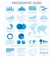 Useful infographic guide Set of graphic design vector image vector image