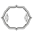 victorian frame isolated icon design vector image vector image