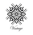 vintage logo template vector image vector image