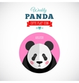 Weekly Panda Cute Flat Animal Icon Ablush vector image vector image