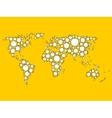 World map mosaic of white dots vector image vector image