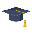 graduation hat icon cartoon style vector image