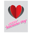Heart Shape Paper Cut Background and Valentine vector image