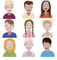 Set of nine young children vector image