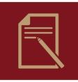 The note paper icon Text file symbol Flat vector image