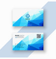 abstract blue geometric triangle shape business vector image vector image