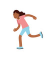 active teen girl running active lifestyle vector image vector image