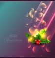 amazing shiny christmas leafs background design vector image