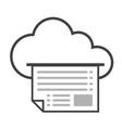 big data icon cloud computing vector image vector image