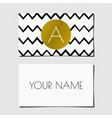 Black white and gold chevron pattern business card