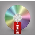 Blue-ray DVD or CD disc with label sale vector image vector image