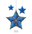 blue star vector image