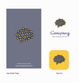 brain company logo app icon and splash page vector image