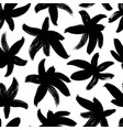 brush abstract flowers seamless pattern vector image vector image
